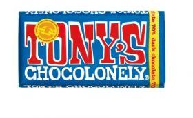 Tony's Chocolonely Fairtrade Dark Chocolate 51% Almonds & Sea Salt 180g x15