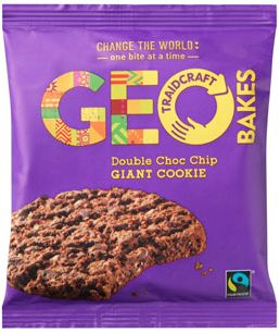 Traidcraft Fair Trade GeoBakes Giant Double Choc Chip Cookies 75g x12