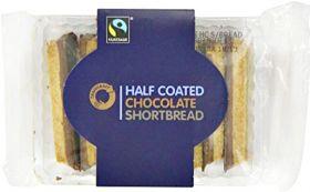 Traidcraft Fair Trade Half Coated Choc Shortbread Fingers (1x160g)