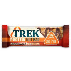 TREK Protein Nut Bar  - Dark Chocolate & Orange Bar 40g x16