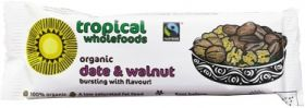 Tropical Wholefoods Fair Trade Date & Walnut Bar 40g x 28
