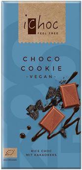 iChoc Organic Choco Cookie Rice Chocolate 80g x10