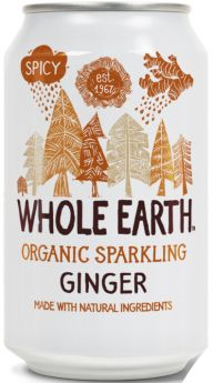 Whole Earth Organic Lightly Sparkling Ginger Drink 330ml x24