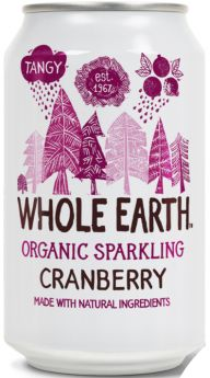 Whole Earth Organic Lightly Sparkling Cranberry Drink 330ml x24