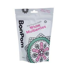 BonPom Raw Organic Dried White Mulberries 1 x200g