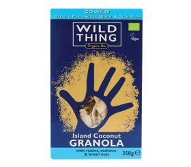 Wild Thing Organic Island Coconut Paleo Granola 350g x6