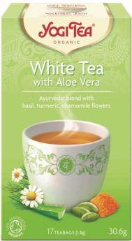 Yogi Tea White Tea with Aloe Vera 30.6g (17's) x6